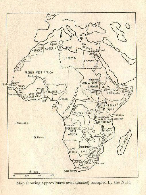 afrika savanne kaart
